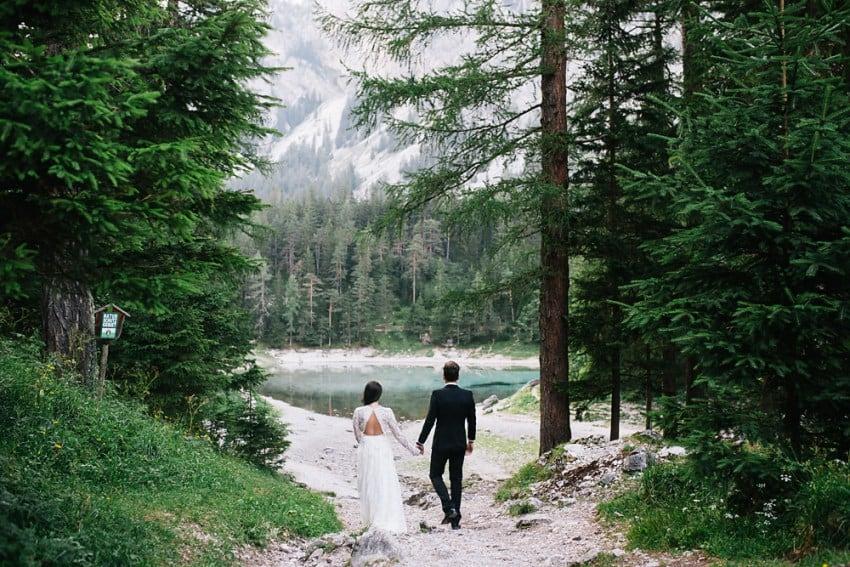 Gruener See Hochzeitsfotograf